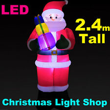 2.4m AirPower SANTA PRESENTS Outdoor Inflatable Christmas Decoration LED Lights