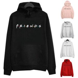 Womens Sweatshirt Blouse Hooded Shirt Hoodies Ladies Friends Loose Tops Autumn