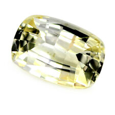 Certified Natural Unheated 0.88ct Ceylon Yellow Sapphire Cushion Cut VVS Clarity