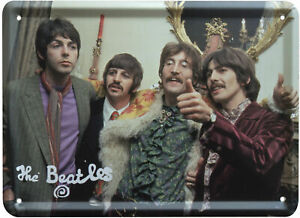 The Beatles SGT PEPPERS LAUNCH Metal Sign Steel Fridge Magnet (8cm x 11cm)
