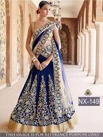 Lehenga choli Party wear, Ethnic Wear, Indian Designer, BLUE LEHENGA CHOLI
