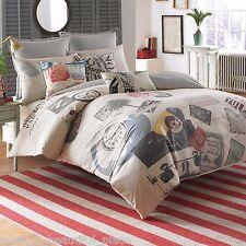 6-Pc Linen House Grand Tour King Duvet Set & Pillows Vintage French Shabby Chic