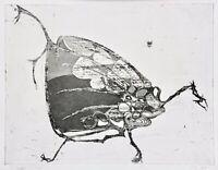 """Nach einer Erzählung von Knut Hamsun """"Die Fliege""""  Radierung, monogrammiert 1969"""