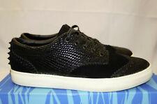 The Hundreds x Flying Coffin Johnson Black White Suede Mens 10.5 Studded Sneaker