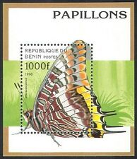 Benin Block16 Never Hinged 1996 Butterflies Unmounted Mint complete.issue.