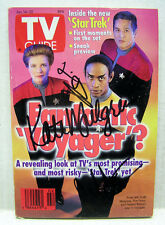 TV Guide Magazine Jan 14-20,1995-STAR TREK-Autographed Mulgrew/More (STBO-AU03)
