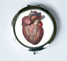 Anatomical Heart Compact Mirror Pocket Mirror Medical victorian psychobilly goth