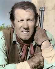 """NEIL SUMMERS THE HIGH CHAPARRAL 1960s ACTOR 8x10"""" HAND COLOR TINTED PHOTOGRAPH"""