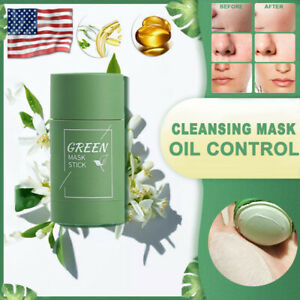 Green Tea Purifying Clay Stick Mask Anti-Acne Deep Cleansing Acne Remover Beauty