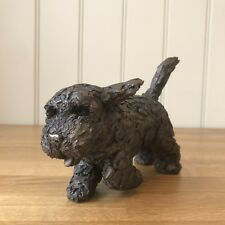 Frith Sculpture Winnie Cockapoo Running Adrain Tinsley Cold Cast Bronze - AT040
