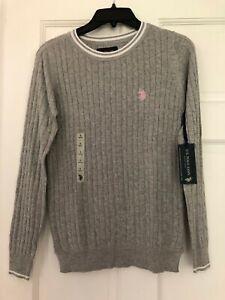 U.S. POLO ASSN. woman's sweater GREY, size S, NWT