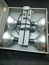 Vintage Photo Lighting Ckc Model 150, 4 Light Light Bar +Handle In Case RNC0172