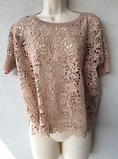 VALENTINO Laces Wool/Cotton Mauve Sweater. Size M/L . Italy