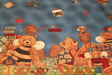 QUILTING BEES - Teresa Kogut Bear Large Scale Border - Rare and OOP - Fat 1/4