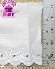 White on White Embossed Pillowcase Trim With Eyelets Sold By The Yard