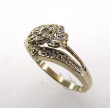10K YELLOW GOLD GENUINE DIAMOND ROUND CLUSTER RING SIZE 6