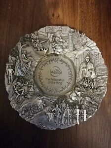 """RARE ROYAL SELANGOR PEWTER LORD OF THE RINGS FELLOWSHIP OF THE RING PLATE 10"""""""