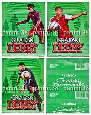 "RARE !! 3 Pochettes ""GRADSKI DERBY"" bustina, packet, tüte PANINI"