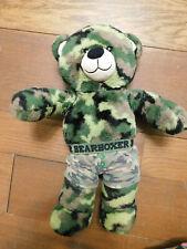 """Build A Bear Teddy Bear Camouflage 16"""" Army Military Plush w/ undies underwear"""
