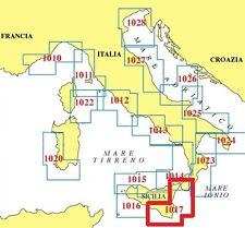 CARTA NAUTICA NAUTICARD PLASTIFICATA 1017 -LICATA / REGGIO CALABRIA-