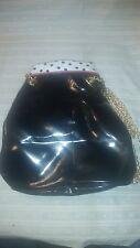 Avon 1992 Large Handbag Black White Red Polka Dots Purse Shoulder Bag Chain