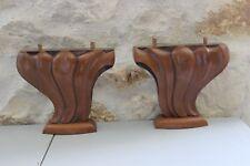 Paire de supports en bois - Meuble - Bois brut - Pieds