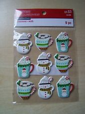 RECOLLECTIONS  - CHRISTMAS NOEL - PUFFY STICKERS - HOT CHOCOLATE