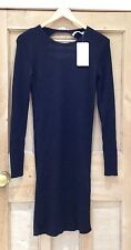 ZARA Black DRESS Size M 10 12 BNWT LOW BACK Glitter