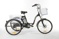 "Electric Trike Tricycle Bike 24"" Aluminium 3 Wheeled - 6 Gears"