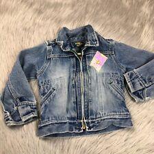 Vintage 90s Oshkosh Bgosh Toddler Girls Denim Patchwork Zip Up Jacket