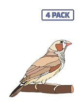 Bird Branch Zebra Wings Beak Finch Feathers Sticker Vinyl Decal 1-337