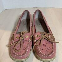 Sperry Top Sider Womens Shoes Size 8M Pink Boat Shoe Flats Leather