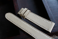 22-18 mm Beige genuine Epsom leather watch band, 24 22 20 18 16 mm watch strap