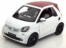 1:18 Norev Smart Fortwo Convertible with removable Softtop 2014 white