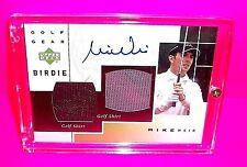 2003 Upper Deck Golf Gear BIRDIE MIKE WEIR DUAL Golf Shirt Autograph Signed Card