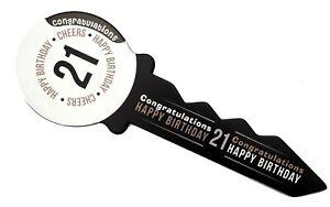 Large 58 cm Black & White  21st Birthday Signing Key Keepsake Male Female