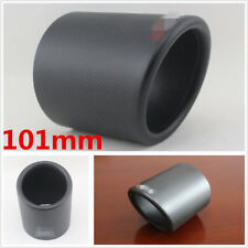 101mm Real Carbon Fiber Car Vehicle Exhaust Pipe Cover Modified Accessories 1 Pc