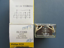 Philips ECG Component RLY2363 Relay 4PDT 10A Coil 24V DC NEW!!! Free Shipping