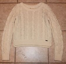 Hollister Girls Womens Small White Long Sleeve Cropped Sweater