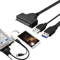 USB 3.0 SATA 7+15Pin to USB 2.0 Adapter Kabel für 2.5 HDD Laptop HDD Festplatte