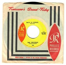 The Crystals 1964 Philles 45rpm He's A Rebel b/w I Love You Eddie