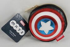 New Disney Store Marvel Captain America Shield Logo MXYZ Coin Purse Wallet