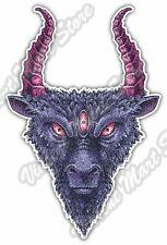 "Goat Devil Eye Satan Hell Evil Monster Car Bumper Vinyl Sticker Decal 3.5""X5"""