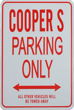 COOPER S Parking Only Sign - Miniature Fun Parking Sign - Mini Cooper