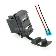 Car Charger 4.2A Dual USB Rapid Charging Port w/Blue LED Digital Voltmeter