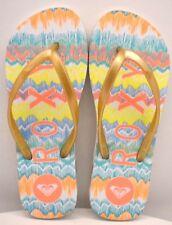 Roxy Flip Flops Gold / Solar Orange US Size 6 - FREE SHIPPING - BRAND NEW