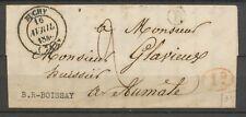 1846 SEINE INFre Lettre CAD T14 BUCHY + Boîte Rurale B BOISSAY + 1D rouge X2964