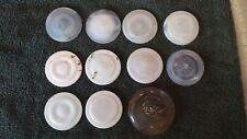 Antique / Vintage Porcelain lined, glass Fruit Jar Covers