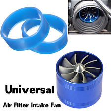 1x Universal Single Supercharger Turbo Charger Fan Air Intake Fan Fuel Gas Saver
