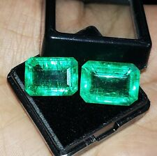 Loose Gemstone Natural Emerald 8 to 10 Ct 2 Certified Pair Best Offer